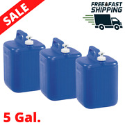 3 Pack 5 Gallon Water Bottle Container Jug With Carrier Drinking Dispenser New