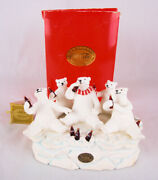 Coca Cola Heritage Collection Polar Bear And Friends Musical Figurines 1995
