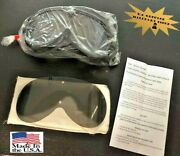 Genuine Military Sun Wind Dust Goggles Clear And Gray New - Snowboarding Skiing