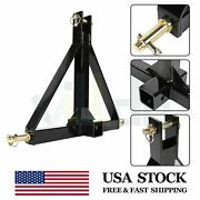 3 Point 2 Receiver Trailer Hitch Tractor Tow Drawbar Adapter Heavy Duty Steel
