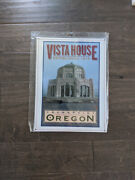 16 Crownpoint Vista House Oregon 3d Cutout Retro Usa Steel Plate Display Sign