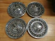 15 Chrysler Dodge Wire Spoke Hubcaps Wheelcovers 4 Used Originals Rwd 1979-89