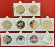 Silver 20 Euro Germany 10 Coins Full Set Of 2018-2019 180 Grams