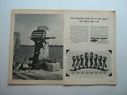 1964 Mercury 39 W/all Outboard Boat Motor Line--vintage Ad From Private Estate