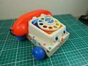Vintage 1961 Fisher Price Pull Along Chatter Phone Toy