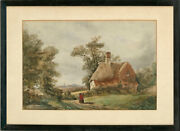 Late 19th Century Watercolour - Returning Home To The Cottage.