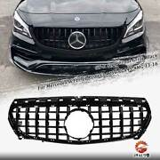 Front Grille Gtr Style Black For 2013-2016 Mercedes Benz W117 Cla250 Cla45 Amg