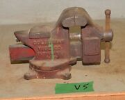 Columbian Vise And Anvil D 44 Jeweler Swivel Base Bench Collectible Blacksmith V5