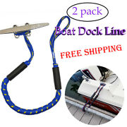2 Pack 4-5.5 Ft Bungee Dock Lines Absorb Shock Rope Boat Accessories