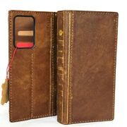 Genuine Leather Case Fit Samsung Galaxy Note 20 Ultra Wallet Book Bible Cover 5g