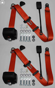 Dreipunkt Automatic Seat Belt Set For Opel Admiral Diplomat Red 30cm