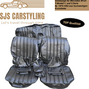 Seat Covers For Mercedes W123 T Model Estate 1/2 Series, Black 250 240 230 Etc