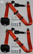 Dreipunkt Automatic Seat Belt Set For Mercedes W123 Limo-coupe-kombi Red