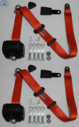 Dreipunkt Automatic Seat Belt Set For Mercedes W124 Limo-coupe-kombi Red