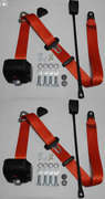 Dreipunkt Automatic Seat Belts Set For Renault R12 R16 Red 45cm