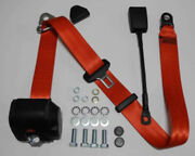 Dreipunkt Automatic Seat Belts For Alfa Romeo Spider Red 30cm