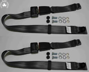 Static Lap Belt Set For Audi 50607580 To 1978100 To 1976 Grey