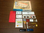 Gas Station With Box 2807-149 Plasticville U.s.a. Ho Scale Vintage Lot