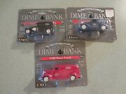 Lot Of 3 Ertl Collectable Panel Trucks Dime Banks 1/43 Scale Agway