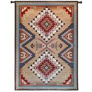 76x53 Brazos Southwest Western Native American Geometric Tapestry Wall Hanging