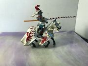 2007 Papo Toys Fantasy Medieval Horse And Knight Jousting Action Figures, Dragon