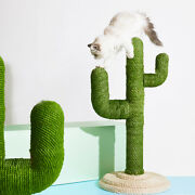 Cactus Cat Tree Scratching Post Sisal Covered Climbing Activity Tower Scratcher