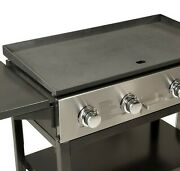 4 Burner Outdoor Lp Gas Grill Griddle Top Portable Rolling 720 Sq Inch Propane