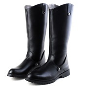 Military Mens Leather Knight Riding Boots Army Knee High Boots Casual Shoes Size