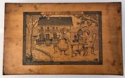 French Early 1900s Wooden Construction Game Beautiful Architectural Details