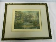 Vintage Signed Wallace Nutting Hand Colored New England Photo Waters Meet 17