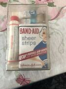 Vintage Band Aids, First Aid Cream, Ky Sterile Lubricant In Plastic Container
