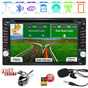 Gps Navigation 6.2and039and039 Car Radio Stereo Dvd Player Bluetooth Usb/sd+ 8g Map+camera