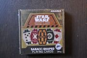 Star Wars Galaxy's Edge Trading Outpost Sabacc Shaped Playing Cards New Sealed