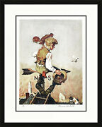 Norman Rockwell Under Sail 1981 | Signed Lithograph | Framed | Make An Offer