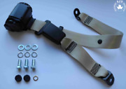 Dreipunkt Automatic Strap Rear For Lancia 2000 Coupe Gamma Coupe Beige