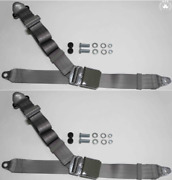Dreipunkt Seat Belt Set For Mini Cooper Grau-chrom New Retro
