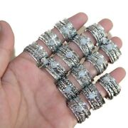 200 Pcs. Lot Natural Moonstone Gemstone 925 Silver Plated Spinner Yoga Rings D09