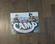 16 Camp Coffee Vintage 3d Cutout Retro Usa Steel Plate Display Ad Sign