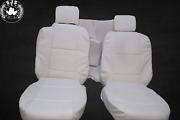 Seat Covers Suitable For Bmw 3er-reihe E46 Cabriolet White Light Beige New