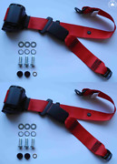 Dreipunkt Automatic Seat Belt For Rear Audi 50607580 1978100 1976 Red