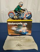 Collectible Item Motorcycle Ms 702 Wind-up Tin Toy
