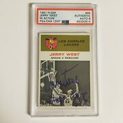 1961 Jerry West 66 Signed Rookie Psa 8 Auto Hof Lakers Vintage Rare Investment