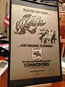 Big 11x17 Framed Lionel Richie And Commodores 1977 Lp Album Cd Promotional Ad