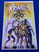 The Atomics 11 X 17 Poster Signed By Mike Allred And Alex Ross Ultra Rare