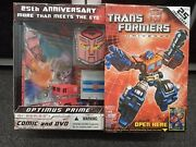Transformers Universe25th Anniversary Optimus Prime Action Figure W/comic And Dvd