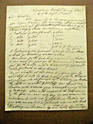 Simsbury Connecticut History Bickford Safety Fuzes 1844 Letter