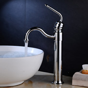 Tall Chrome Basin Faucet Retro And Beautiful Single Hole Hot And Cold Faucets