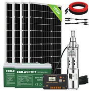 3 Solar Water Pump Bore Stainless Deep Well Farm Ranch Submersible Complete Kit