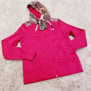 Under Armour Womens Red Real Tree Camo Hunting Jacket S 1260175-623 New 85
