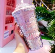 Cute Shining Star Designed Double Layered Coffee Juice Tumbler Cup Water Bottle